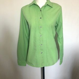 Fox Croft Wrinkle Free Shaped Fit Button Up Blouse